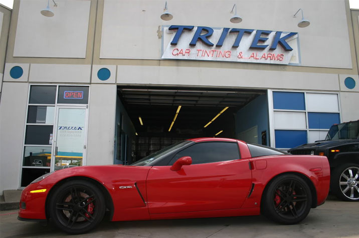 Red Window Tint >> Red Z06 Corvette Window Tint Installation For Dallas Customer