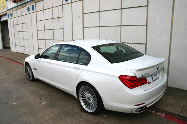 2012 White BMW B7 Alpina LWB Window Tint Installation For Customer In Plano