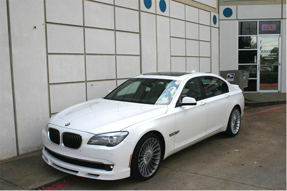 2012 White BMW B7 Alpina LWB Window Tint Installation For Plano Customer
