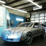 Gray Bentley Window Tint for a Dallas Customer