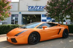 Orange Lamborghini Window Tint Plano Texas