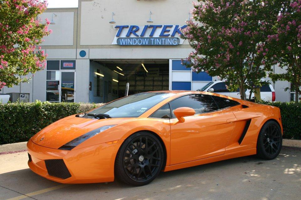 Orange Lamborghini Gallardo Window Tint For A Richardson Customer