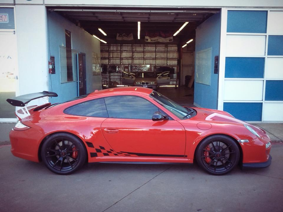 Red Window Tint >> Red Porsche Gt3rs Window Tint For A Dallas Customer Tritek