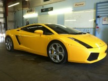 2004 Yellow Lamborghini Gallardo Window Tint for a Dallas Customer